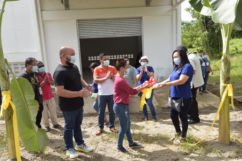 PLGU DAVAO DE ORO TURNS OVER SOLAR DRYER WITH WAREHOUSE TO NAFAMCO